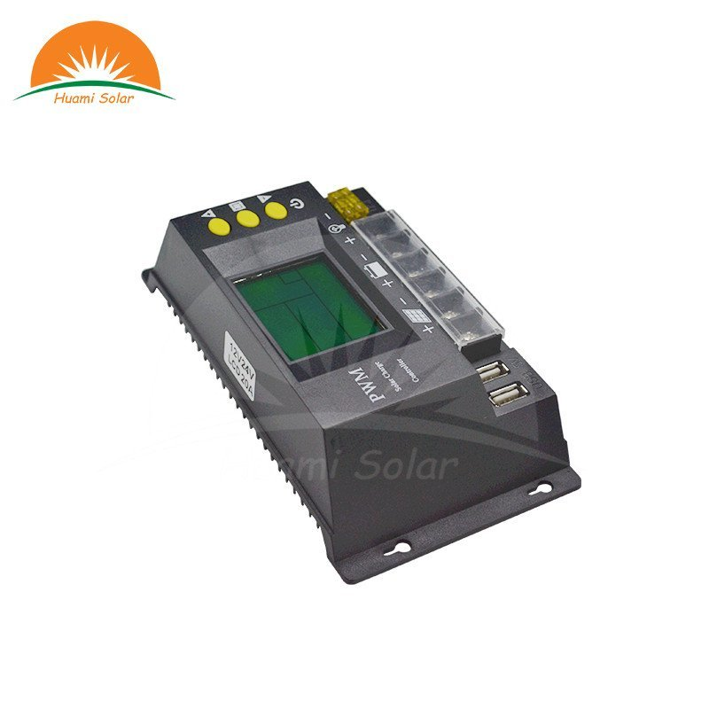 12V/24V 10A Small LCD PWM Solar Charge Controller HM-10A