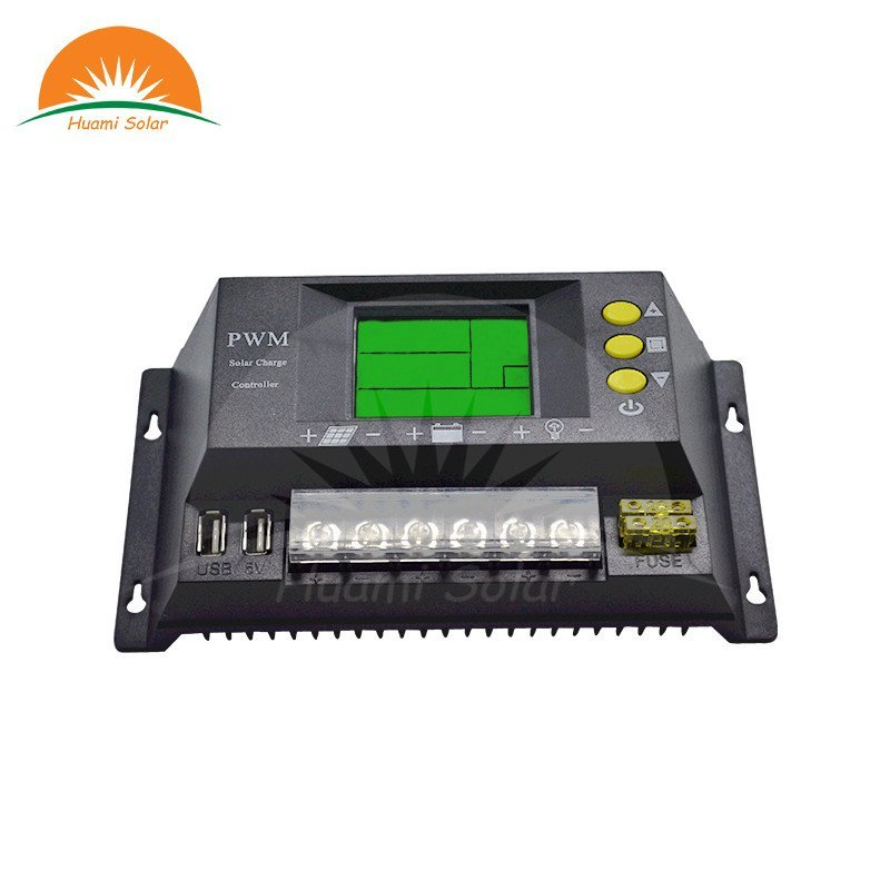 12V/24V 10A Small LCD PWM Solar Charge Controller HM-10A info