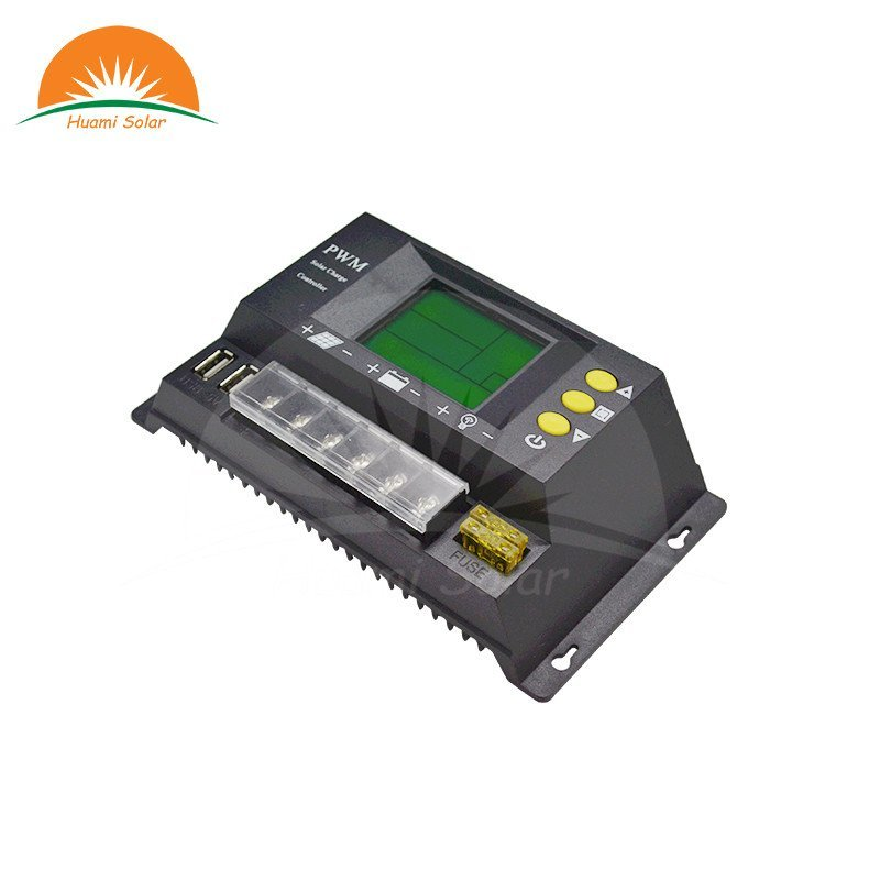 Huami 12V/24V 10A Small LCD PWM Solar Charge Controller HM-10A PWM Solar Charge Controller image1