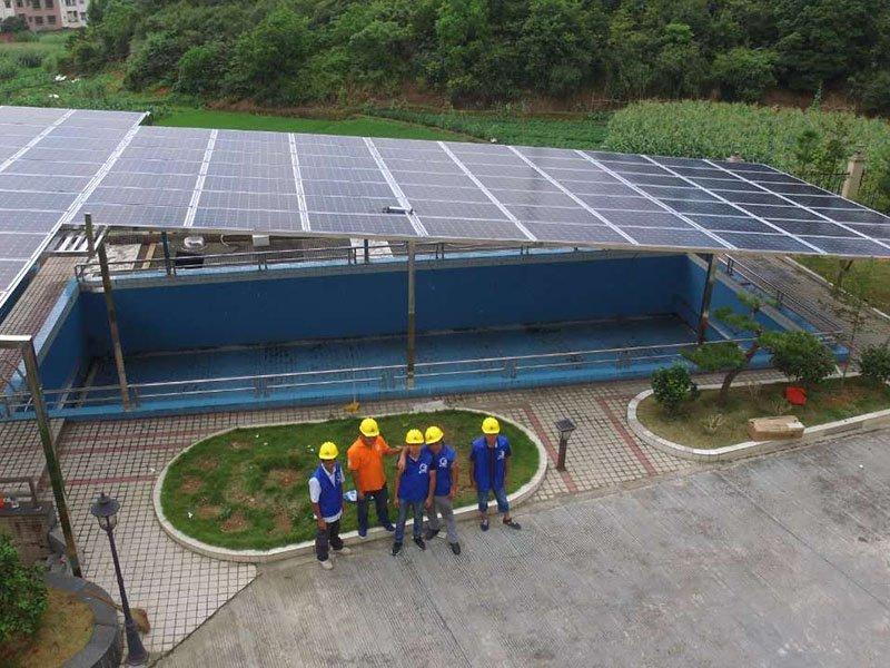 Qingyuan 55.44KW ON-GRID SOLAR SYSTEM