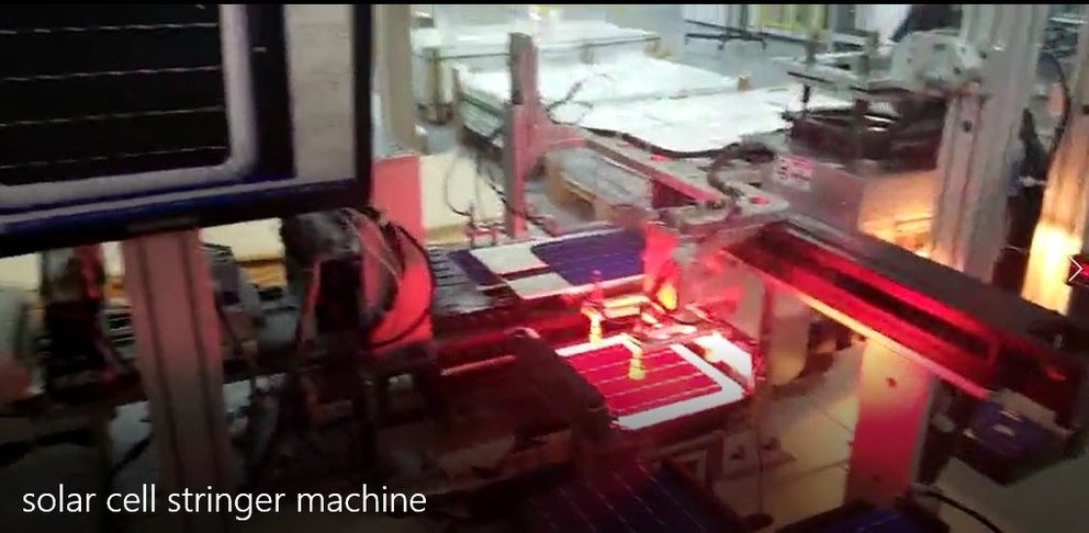 Solar Cell Stringer Machine