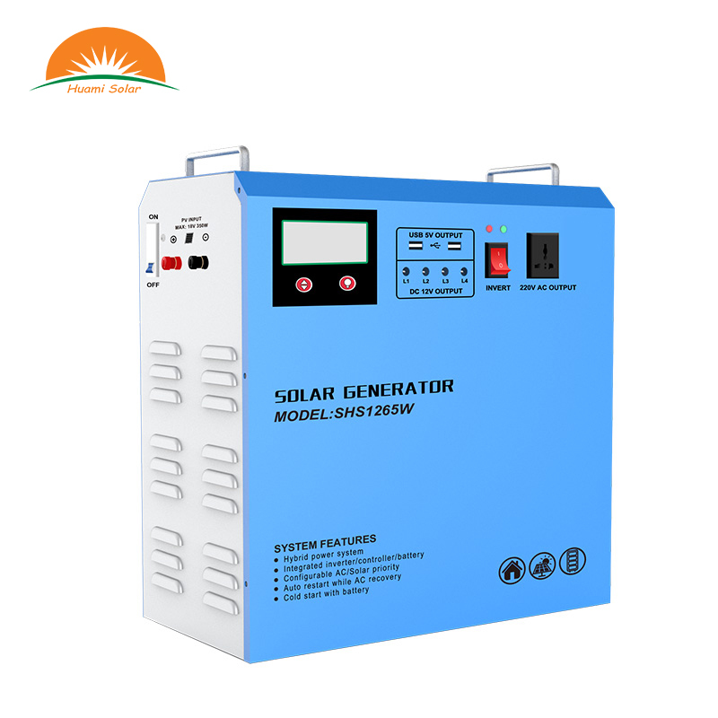 12V 65Ah Battery All in one Portable Solar Kit