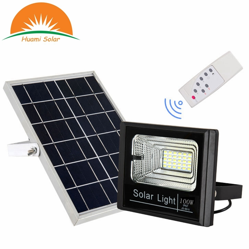 All in one 100W solar flood light