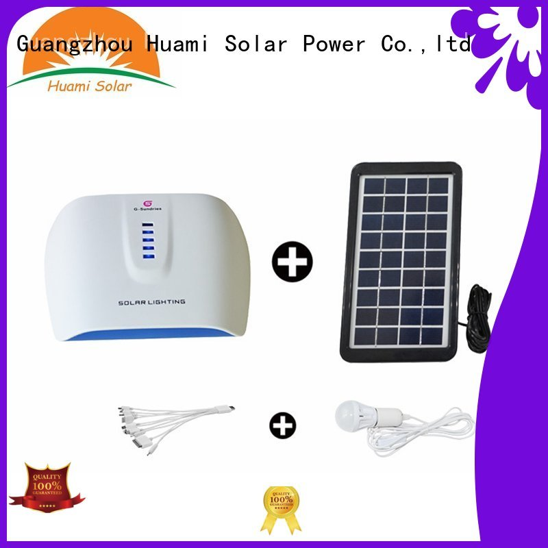 Wholesale generator portable solar panel kits for home lighting Huami Brand