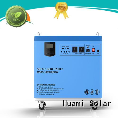 Huami Brand lighting portable solar panel kits for home portable supplier